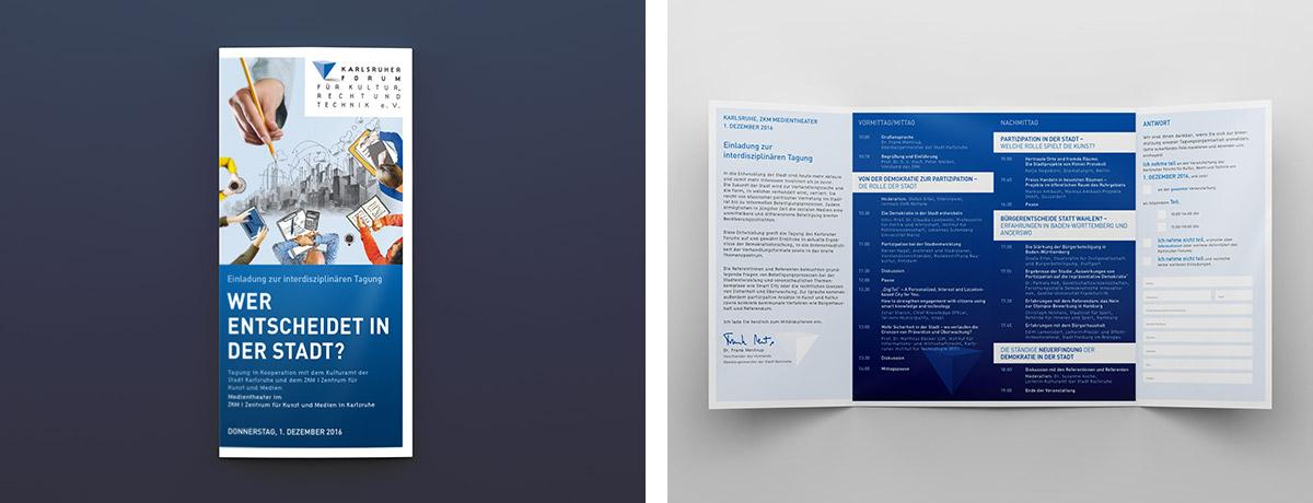 Karlsruher Forum · Flyer · Gestaltung · Design · Art Crash Werbeagentur Karlsruhe