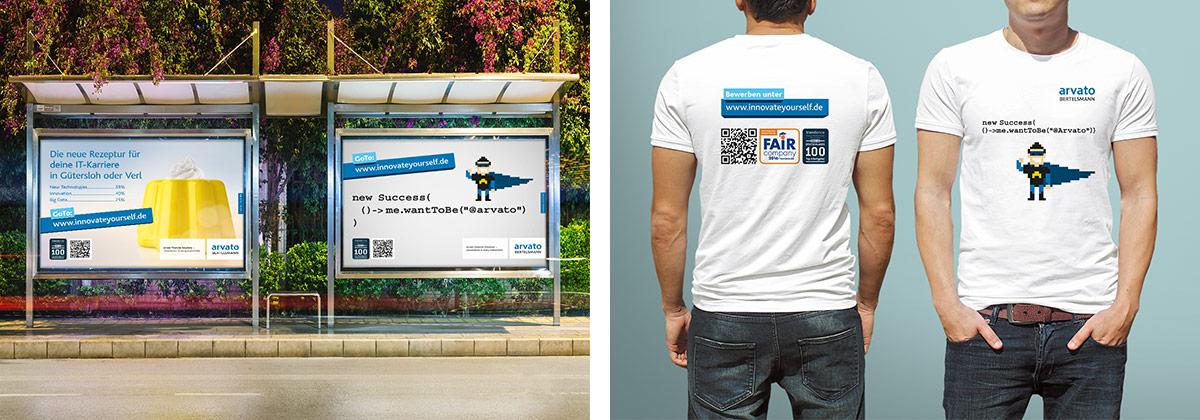 arvato Bertelsmann · Recruiting · Kampagne · Art Crash Werbeagentur Karlsruhe