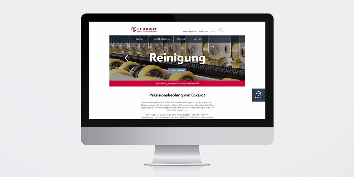 Eckardt Umformtechnik · Website · Internetseite · Webdesign · Art Crash Werbeagentur Karlsruhe
