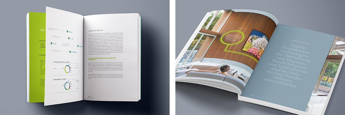 Art Crash Werbeagentur Karlsruhe · Projekt · Maschinenbau · Manz · Geschäftsbericht