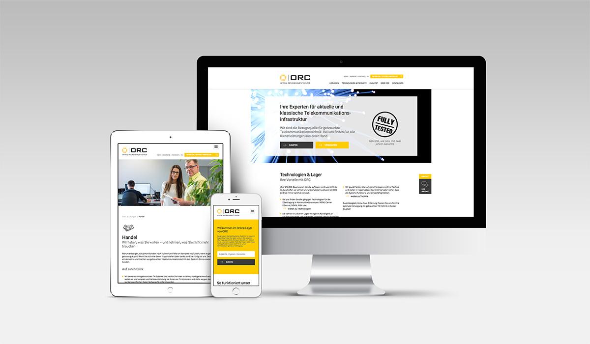 Neue B2B-Website für ORC · Art Crash Werbeagentur Karlsruhe