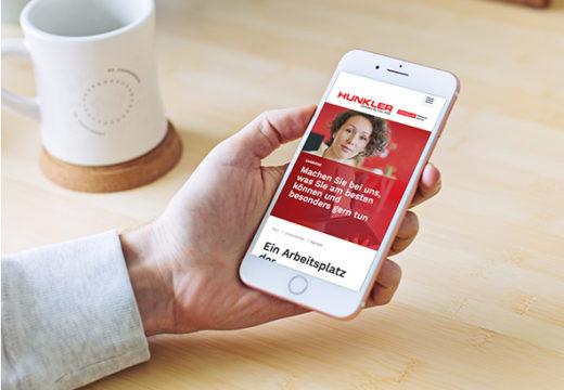 Art Crash Werbeagentur Karlsruhe gestaltet neuen HUNKLER-Webauftritt.
